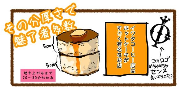 鎌倉「イワタコーヒー店」名物のホットケーキ