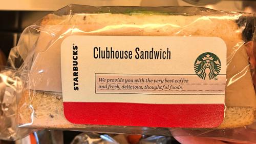 スタバ「クラブハウスサンドイッチ」のパッケージ