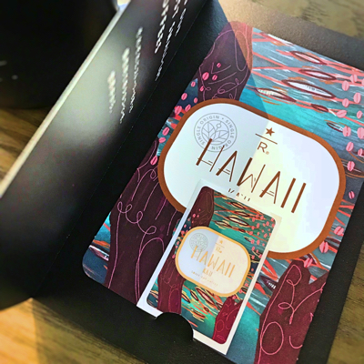 スタバ「ハワイ カウ」のカード