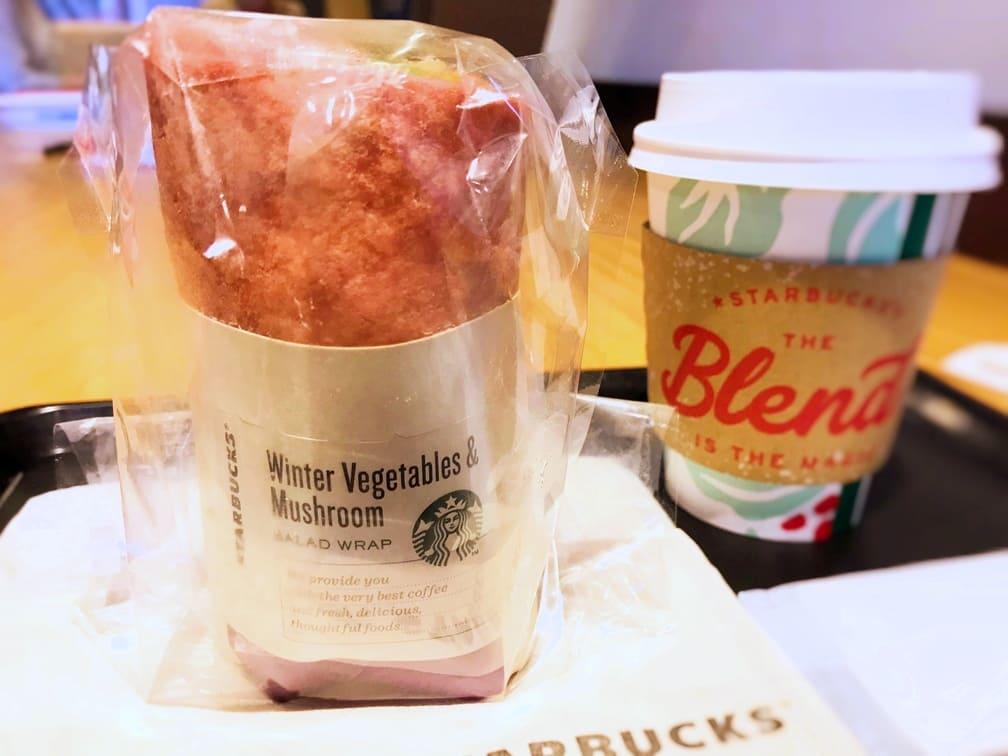 スタバフード サラダラップ冬野菜&きのこを食べた感想ブログ