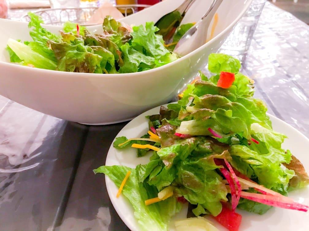 鎌倉ルーフトップスの鎌倉野菜のグリーンサラダ