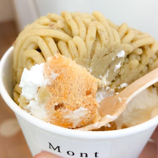鎌倉 モンブランスタンド 「絞りたて」の利点を最大限に感じるメレンゲのカラカラに乾いた食感が最高の写真