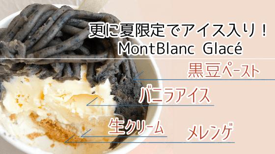 鎌倉モンブランスタンド 夏限定のアイス入り黒豆のモンブランの写真