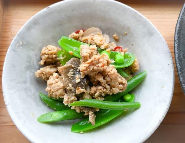 鎌倉ランチsahan「お豆とマッシュルームの炒めもの」